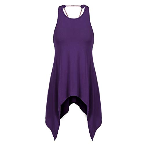 Dames Open Terug Onregelmatige Hem T-Shirt Jurk Korte Mouwloos Korte Rok Dames Casual Beach Wear Losse Jurk Rok