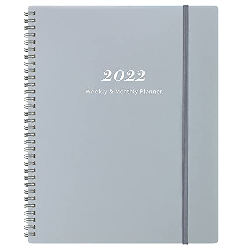 Diary 2022 – Week to View 2022 Diary Planner from January 2022 to December 2022, with Elastic Closure and Thick Paper, Back Pocket with 21 Notes Pages