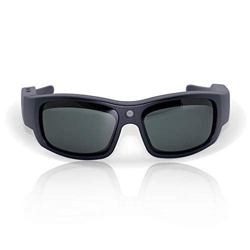 Govision Pro1 Ultra HD Video Camera Sunglasses   Water Resistant Sunglasses Camera   15MP Camera Glasses   Wide Angle View, Unisex Design, Stylish, Water Resistant and Lightweight Frame   Titanium