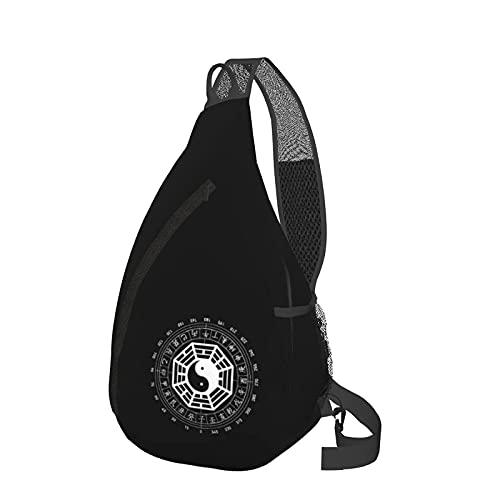 Mochila de viaje Senderismo Bolsa de pecho I Ching Energies in Tai Chi Yin Yang Sling Backpack Fashion Travel Hiking Chest Bag Daypack for Women Men
