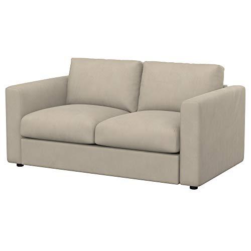 Soferia Funda de Repuesto para IKEA VIMLE sofá Cama de 2 plazas, Tela Majestic Velvet Beige, Beige