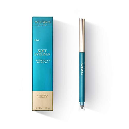 Mimore Eyeliner Pencil Impermeable Suave y fluido, Eyeliner Pen Secado rápido Maquillaje cosmético de larga duración Lápiz delineador de ojos, Antifouling Todo el día Fácil de usar, Negro