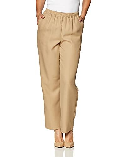 Alfred Dunner Women's Medium Pant,Tan,12