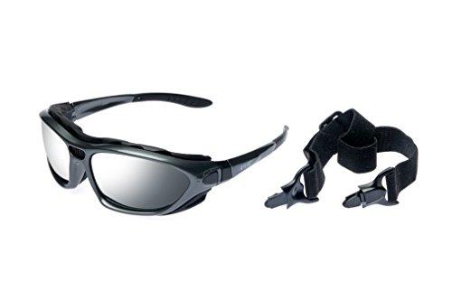 Alpland Skibrille Gletscherbrille, Bergbrille Sportbrille inkl. Softbag