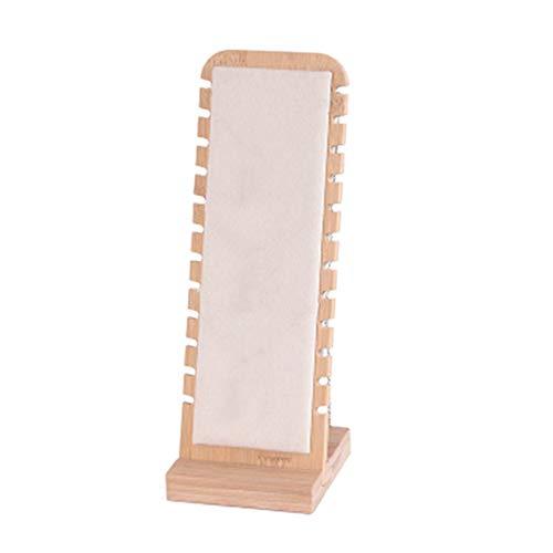 Fransande Moderno soporte de almacenamiento de joyas de bambú para colgar collares y joyas