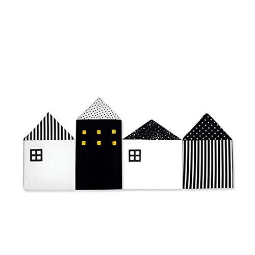 Aolvo, atmungsaktiv, für Kinderbett, Nestchen,/anti-collision-Wiege, 100% Baumwolle, für Kinderbett, in Haus und für Dekoration, mit Geschenk Schwarz