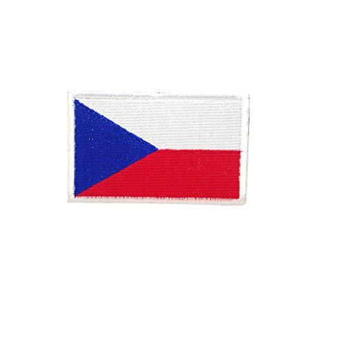 Cobra Tactical Solutions Military geborduurde patch Tsjechische vlag met klittenbandsluiting voor airsoft/paintball voor tactische kleding/rugzak