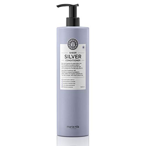 Maria Nila Care & Style - Sheer Silver Conditioner 1 l, pflegender Conditioner für blondes Haar