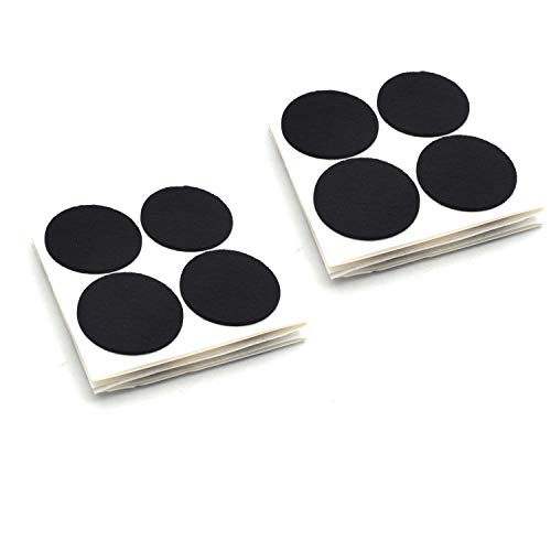 Antrader 1.5 Inch Self-Stick Furniture Round Felt Pads Wood Floor Protectors – Protect Your Hard Floors from Furniture Scratches, Pack of 48, Black