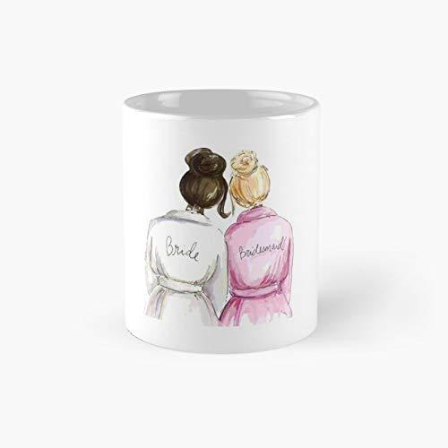 Regalos de boda regalos de despedida de soltera – El mejor regalo de compromiso para su novia, dama de honor, mujer, amiga o hermana y taza clásica, tazas de café divertidas, 11 onzas