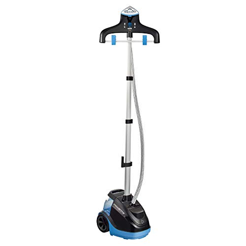 Rowenta IS6520 Master 360 Full Size Garment and Fabric Steamer with Rotating hanger, 1500-Watt, Blue (Renewed)
