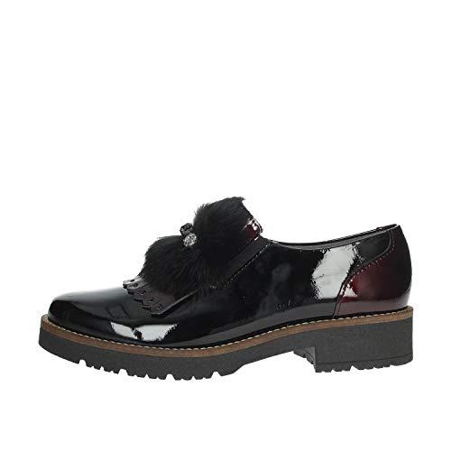 PITILLOS 5792 Brogue-Schuhe Frau Schwarz/Bordeauxrot 36