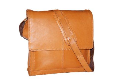 Yale - messengertas voor ordners & notebooks by LEAS in echt rund-nappaleder, beige - LEAS Classic Bags