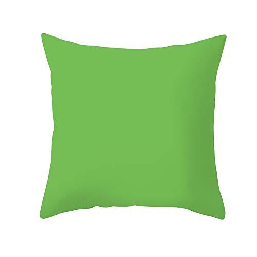 Jingpyij Fundas de Cojines Funda de Cojín Verde Cojines Decoracion Terciopelo Suave Fundas de Almohada Cuadrado para Sofá Cama Sillas Coche Dormitorio Decorativo Hogar M7537 Pillowcase,60x60cm