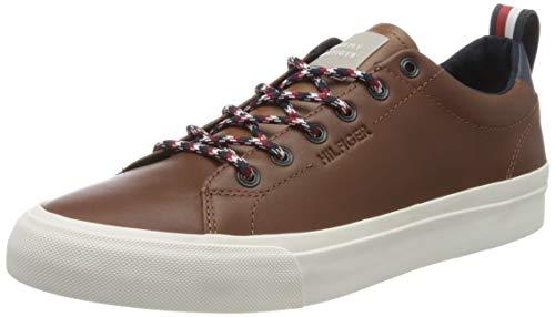 Tommy Hilfiger Herren Leon 18a Sneaker, Braun (Natural Cognac Gtu), 46 EU
