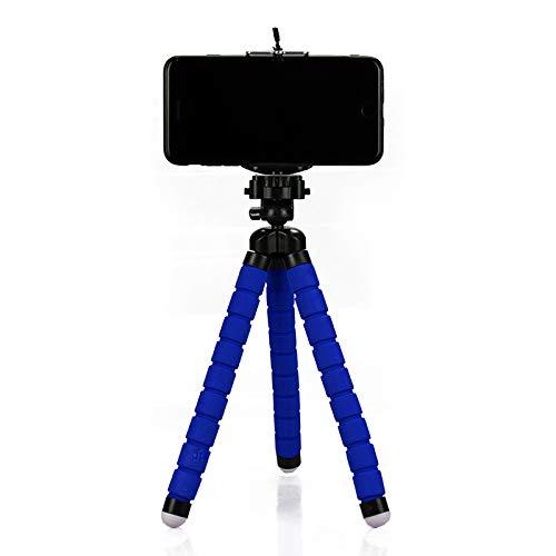 Mini Tripé Flexível para Celular 24cm - Azul