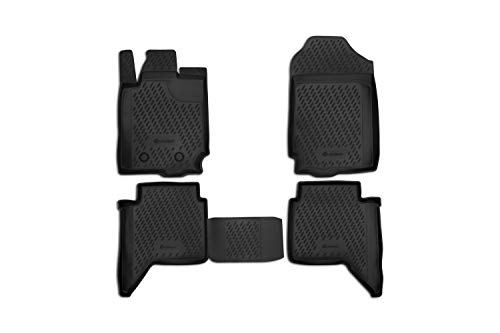 Element EXP.CARFRD00005kh Passgenaue Premium Antirutsch Gummi Fußmatten-Ford Ranger, 4 Door-Jahr: 11-20, schwarz