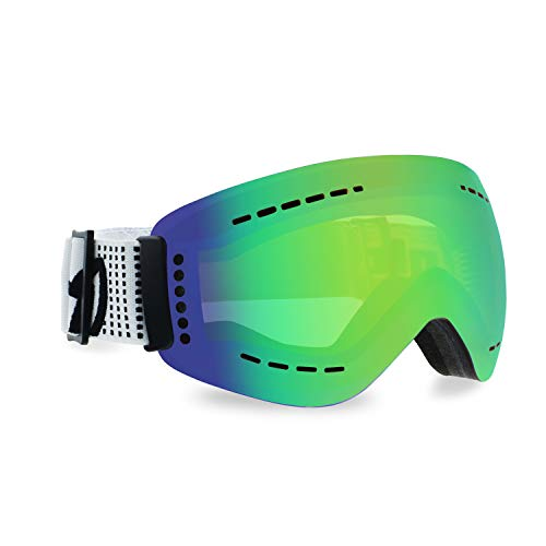 Gloryfy unisex-adult unbreakable (GP3 Green multilayer) -Unzerbrechliche Skibrille, Snowboardbrille, Herren, Damen, Winter, Kontrastbrille, Grün-Verspiegelte Gläser, Helm kompatibel
