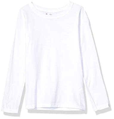 Hanes Girls' Big ComfortSoft Long Sleeve Tee, White, L from Hanes Women's Activewear