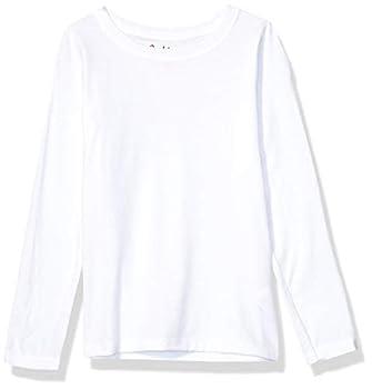 Hanes Girls  Big ComfortSoft Long Sleeve Tee White M