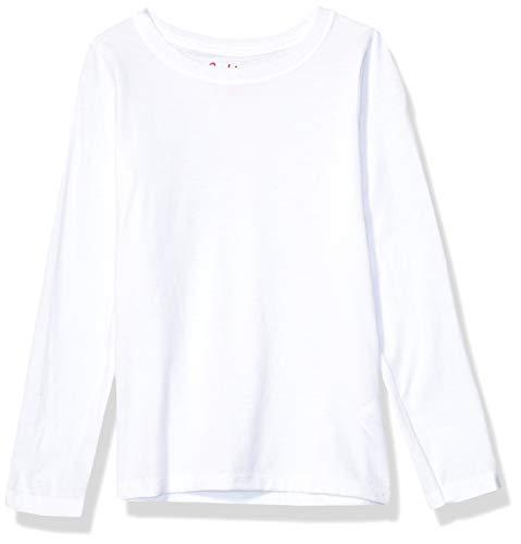 Hanes Girls' Big ComfortSoft Long Sleeve Tee, White, M