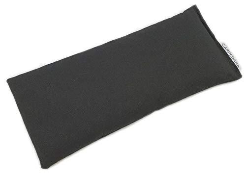 CARREDANA Cojines de Yoga de Semillas de Trigo con Lavanda y eucalípto (1Almohada con semilla de Trigo+Lavanda (Negro))
