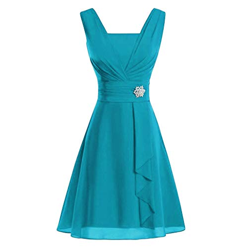 TUDUZ Frauen Langarm Casual Lose Farbverlauf Mini Kleid Sommerkleider Strandkleider S-XXXXL (Blau, M(EU 38))