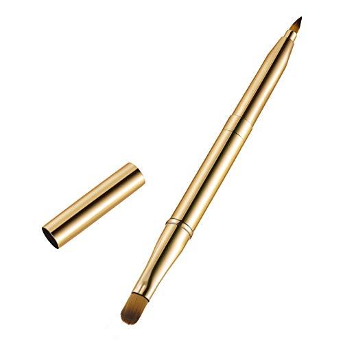 Frcolor 1 Stück Tragbare Lippenpinsel Doppelseitige Lippenstift Lip Gloss Applikator Make-Up Pinsel-werkzeug (Gold)