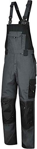 BWOLF Brave Salopette de travail pour homme avec poches latérales multifonctionnelles, poches arrières + renforcées en polyester 600D - Gris - Large