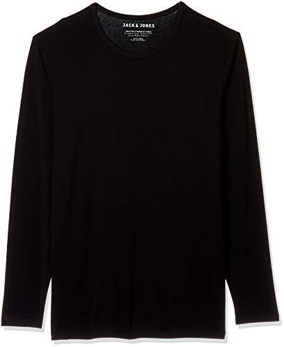 Jack & Jones Basic O-Neck tee L/S Noos Camiseta, Negro (Black), XXL para Hombre
