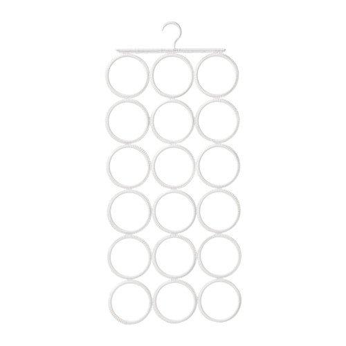 Unbekannt IKEA Aufhänger Komplement Kleiderschrank-Bügel mit 18 Einlässen für Ordnen von Gürteln, Krawatten und Anderen Accessoires - Breite: 32 cm Höhe: 72 cm