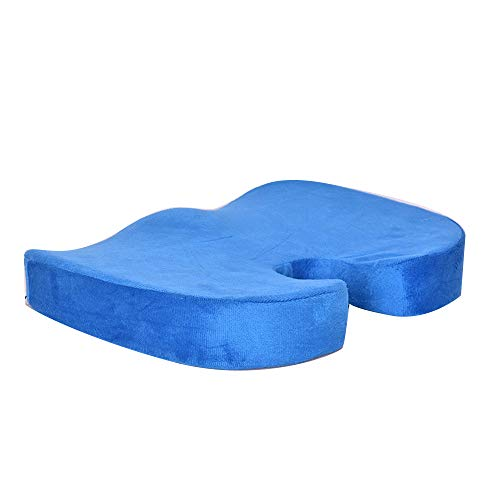 Anyutai Cojín de coxis – Cojín de rebote lento en forma de U para sillas de oficina, silla de ruedas, sillas de cocina, reclinables, asientos de coche (45 x 35 x 7 cm)