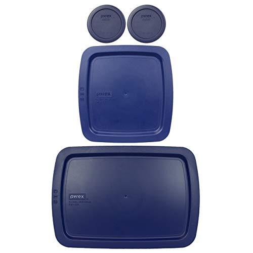 Pyrex (2) 7202-PC 1 Cup Blue (1) C-222-PC 2 Quart Easy Grab (1) C-233-PC 3 Quart Easy Grab Food Storage Lids