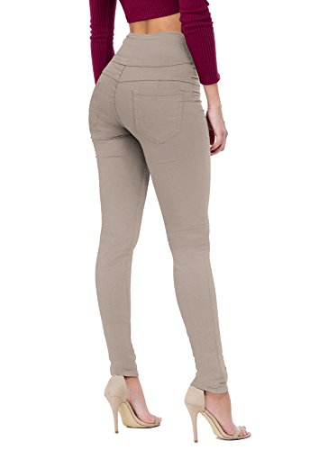 Women's Butt Lift V3 Super Comfy Stretch Denim Jeans P45076SK Khaki 9