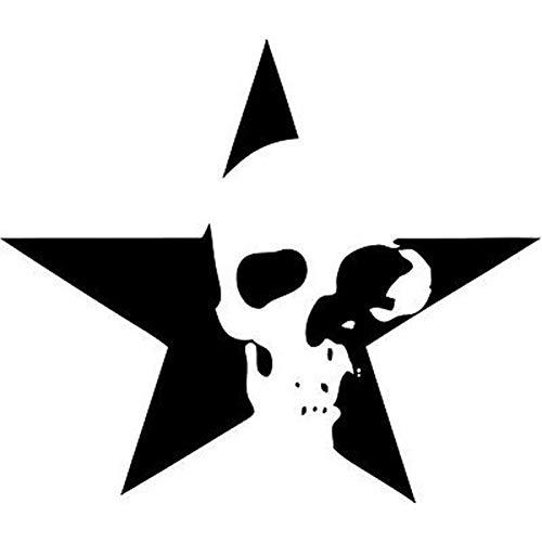 GWCU Car Stickers 15cm*13cm Star Skull Fashion Bardian Vinyl Car-styling Decal Motorcycle Car Sticker Black