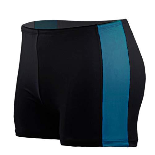 ZEZKT Herren Streifen Badehose Männer Badeshorts Schnell Trocknend Bermuda Kurze Hose Mit Kordel Strandhose Hawaii Shorts Boxershorts Sporthose