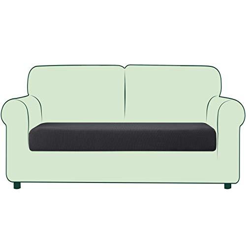 CHUN YI 1 Stück Sofa Sitzkissenbezug Stretch Sitzkissenschutz Elastischer Husse Überzug für Sofa Sitzkissen rutschfest Stoff Möbelschutz(2-Sitzer, Grau)