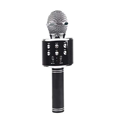 Rotto® Wireless Bluetooth Microphone for Karaoke with Inbuilt Speaker with Audio Recording or All iOS/Android Smartphone (Black)