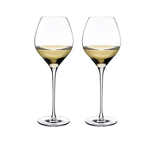MQH Copas de Vino Conjunto de Copa de Vino de 2 Copa de Vino de Cristal de Cristal restaurantes y Fiestas para Casas lavavajillas y Caja Fuerte de microondas Copas para Vino