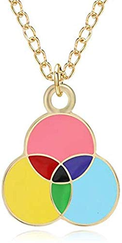 Pendant Necklace Three Tiny Round Necklace for Women Girls Rainbow Colorful Balloon Pendants Necklaces Female Cute Lovely Jewelry Gifts