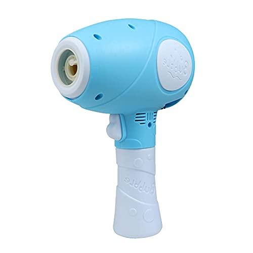Máquina De Burbujas para Niños De Verano, Máquina De Burbujas con Forma De Secador De Pelo, Juguetes Automáticos para Hacer Burbujas con Carga USB, Regalo del Día De Los Niños,Azul