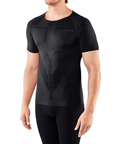 FALKE Herren Warm Tight Fit M S/S SH Unterwäsche, Schwarz (Black 3000), Large
