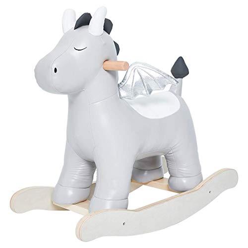 labebe Baby Schaukeltier Drache Leder Schaukelpferd Holz Kinder Schaukelspielzeug Kleinkind Spielzeug Schaukelstuhl ab 1 Jahr