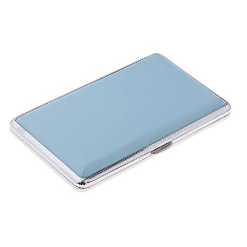 Homyl Boîte de Rangement Portable Femme Fournitures de Fumer Cigaretter Holder Case Box Container pour 14 Pièces Cigarette - Bleu