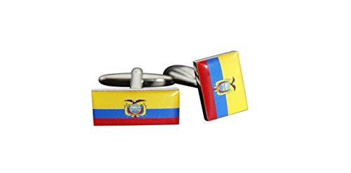Flaggenfritze® Manschettenknöpfe Fahne/Flagge Ecuador