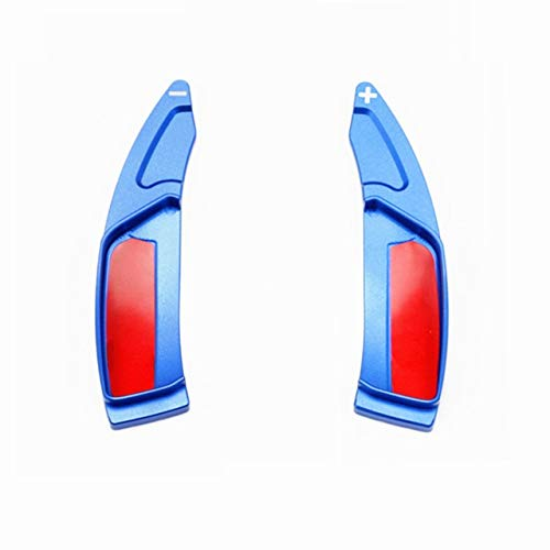 JJJJD Shift Coche paletas for Peugeot 208 308 508 2008 3008 5008 GTI SW Allure Volante Shifter Extensión Etiquetas engomadas del Coche Accesorios (Color : Blue)