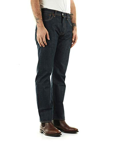 Levi's 501 Straight Leg Dark Wash Jean 34x34