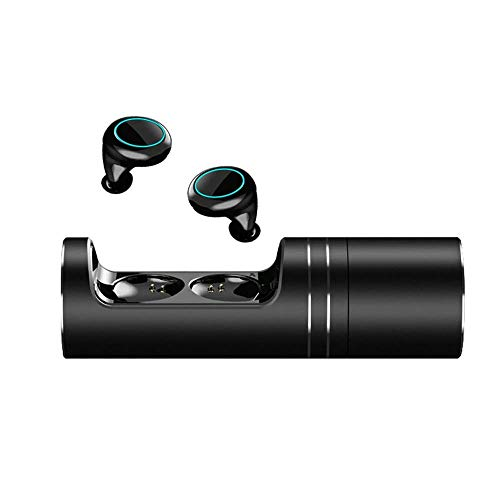 QCHEA Auriculares inalámbricos Auriculares Bluetooth 5.0 Estuche de Carga Hi-Fi Sonido de Graves Profundos Audífonos de Control táctil a Prueba de Agua