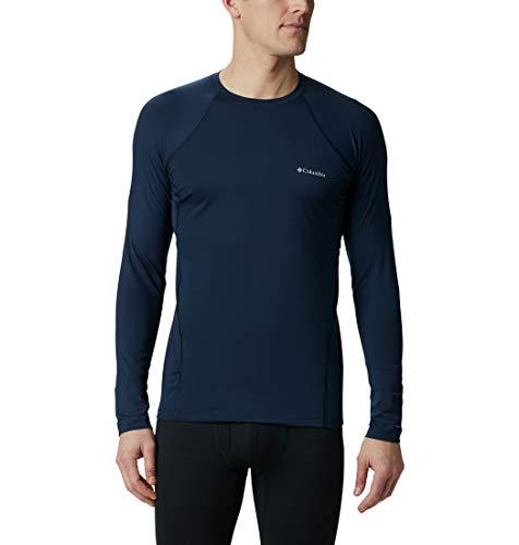 Columbia Midweight Stretch C Camiseta Térmica de Manga Larga, Hombre, Azul (Collegiate Navy), XL