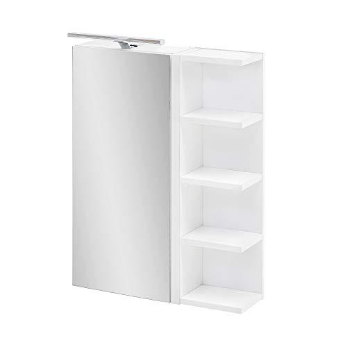 BODENMEISTER Badezimmer-Spiegel, Holzwerkstoff, Weiß, 50 cm